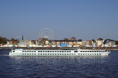 large european river cruising ship